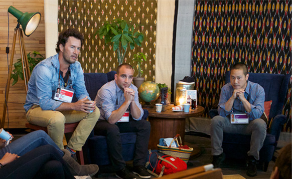 Heads of TOMS, GOOD and Zappos talk social good at TED2014. Photo: Bret Hartman